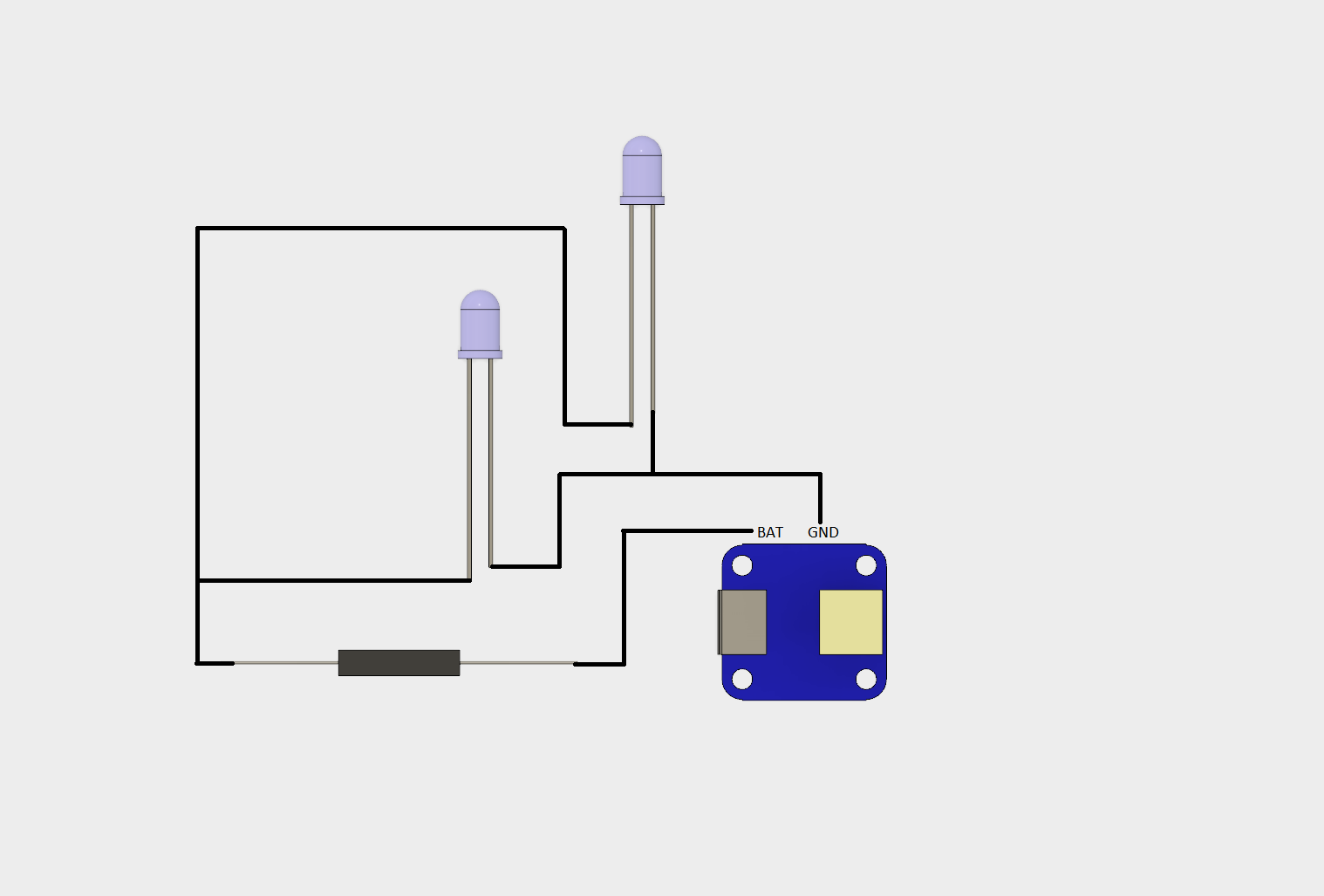 Pretty basic circuit. My drawing is kinda crap though. I'm working on figuring out the best way to show these things.
