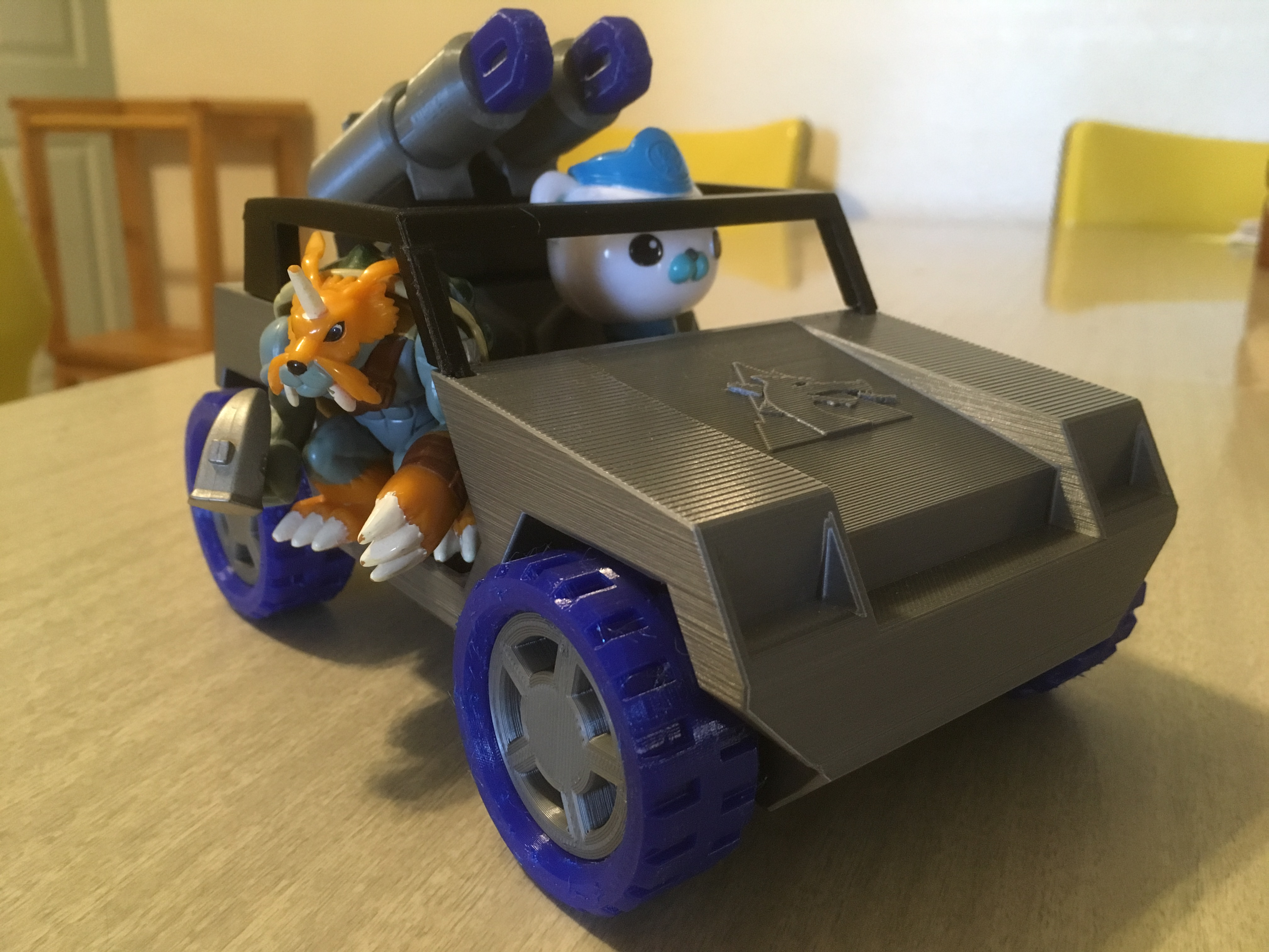 My daughter's Octonauts will likely be taking this vehicle over for their land missions. Zudomon is their friend apparently, which I guess makes sense.